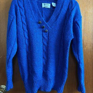 Beautiful 90's Royal Blue Sweater